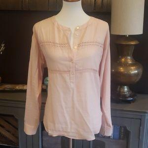 Pale peach LOFT blouse
